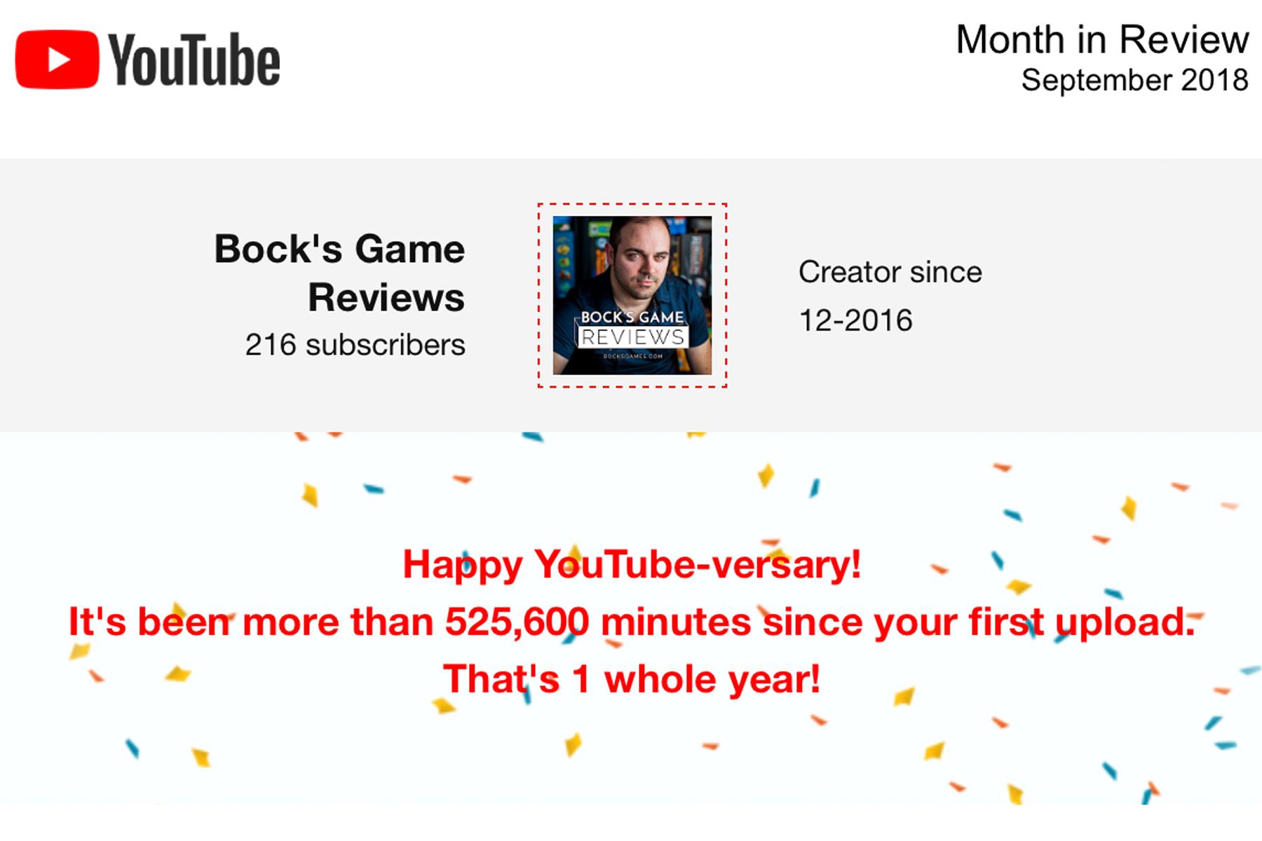 Bock's Games Anniversary